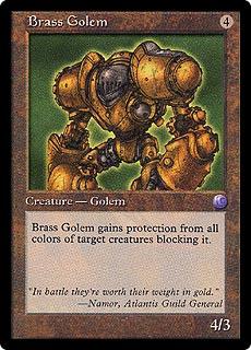 If mage knight were magic cards? Inquest-brass-golem