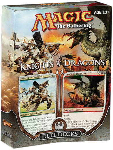 Knights vs Dragons Knight of the Reliquary Bogardan Hellkite Duel Decks Deck Box
